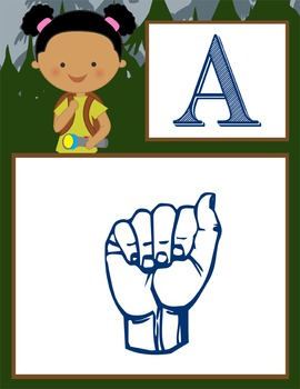CAMPING - Alphabet Flag Banner, SIGN LANGUAGE