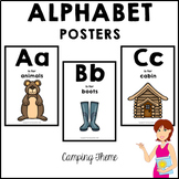CAMPING Classroom Decor Alphabet Posters