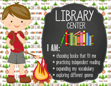 CAMPING - Classroom Decor: Center Signs, student cards