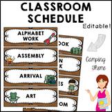 CAMPING Classroom Decor Class Schedule