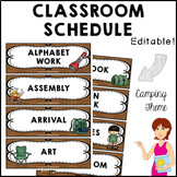 CAMPING Classroom Decor Class Schedule