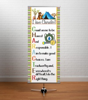 CAMPING - Classroom Decor: LARGE BANNER, CHARACTER