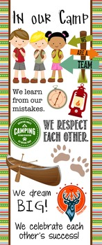 CAMPING - Classroom Decor: LARGE BANNER, In Our Camp