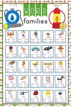 CAMPING - Classroom Decor: Language Arts, Word Families PO
