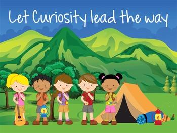 CAMPING - Classroom Decor: MEDIUM POSTER, Let Curiosity Lead the Way
