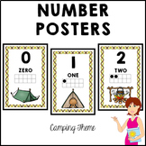 CAMPING Classroom Decor Number Posters
