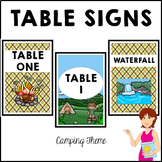 CAMPING Classroom Decor Table Signs