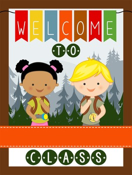 CAMPING - Classroom Decor: WELCOME Poster - 18 x 24, you p