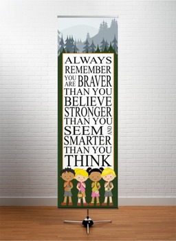 CAMPING - Classroom Decor: X-LARGE BANNER, Always Remember