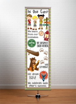 CAMPING - Classroom Decor: X-LARGE BANNER, In Our Camp