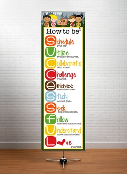 CAMPING - Classroom Decor: XLARGE BANNER, How to be Successful