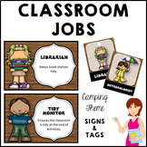 CAMPING Classroom Jobs and Student Brag Tags