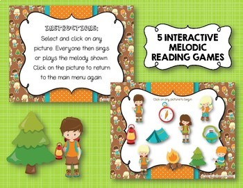 CAMPING Melodies! Interactive Melodic Practice BUNDLE - 5 GAMES!