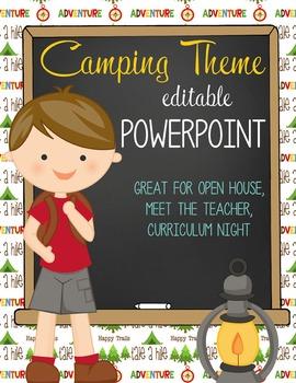 CAMPING - PowerPoint, Open House, Curriculum Night, Meet t