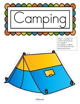 CAMPING Centers and Activities Pack for Preschool - 116 pages