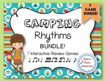 CAMPING Rhythms! An Interactive Rhythm GAME BUNDLE - 7 GAMES! (Kodaly)
