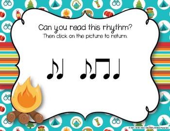 CAMPING Rhythms! Interactive Rhythm Practice Game - Syncopa