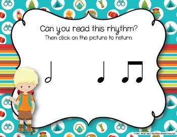 CAMPING Rhythms! Interactive Rhythm Practice Game - Ta-a