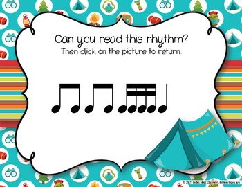 CAMPING Rhythms! Interactive Rhythm Practice Game - Tika-tika