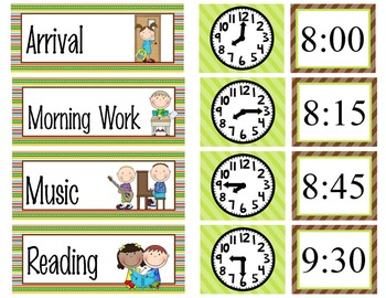 CAMPING - Schedule Cards / editable MS WORD / Illustrated