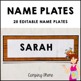 CAMPING Student Name Plates Fully Editable