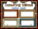 CAMPING THEME BASKET LABELS-classroom theme {printables)