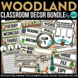 CAMPING THEME Classroom Decor - 3 EDITABLE Clutter-Free Classroom Decor BUNDLE