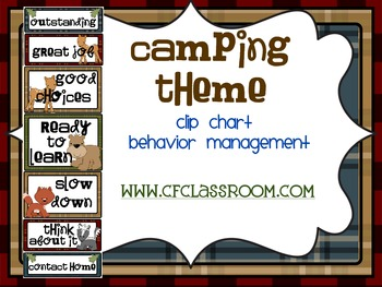 CAMPING THEME CLIP CHART / BEHAVIOR PLAN-classroom theme {printables)