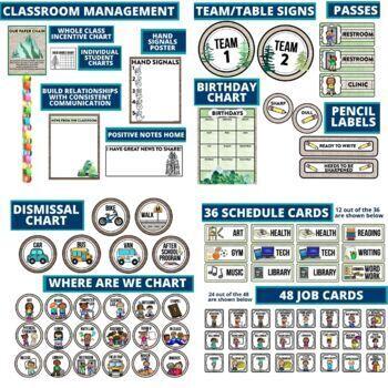 CAMPING THEME NAMEPLATES-classroom theme {printables & EDITABLE)