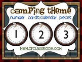 CAMPING THEME NUMBER CARDS/CALENDAR PIECES-classroom theme