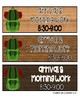 CAMPING THEME Number Posters and EDITABLE Schedule Cards BUNDLE