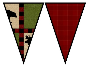 CAMPING THEME PENNANT BANNER-classroom theme {printables)
