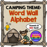 CAMPING THEME: Word Wall Alphabet