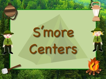 CAMPING Themed Station/Center Signs  Great Classroom Management! S'more Work!