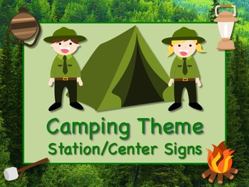 CAMPING Themed Station/Center Signs  Great Classroom Manag