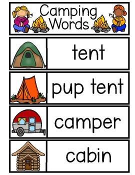 CAMPING Word Cards {Capital & Lowercase}