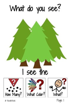 CAMPING an Adapted Book for Comprehension: What, How Many, What Color