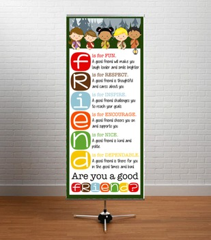 CAMPING theme - Classroom Decor: LARGE BANNER, FRIENDS