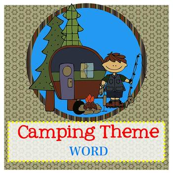 CAMPING theme - Newsletter Template - Word