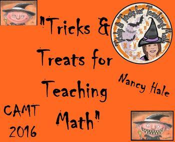 "CAMT 2016 San Antonio ""Tricks and Treats for Teaching Math"" Presentation"