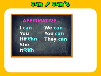 CAN/CAN'T. Ability and permission. Grammar. Power Point