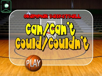 CAN-CAN'T-COULD-COULDN'T. Basketball game. Grammar. Power point