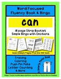 CAN - Word Fluency Book & Emotion Bingo - Sight Word Focus