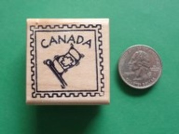 CANADA Country/Passport Rubber Stamp