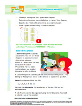 CANADA Math 4: Algebra: Patterns and Relations: L4: Diagramming Numbers