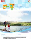 CANADA Math 4: Geometry: Unit Tests