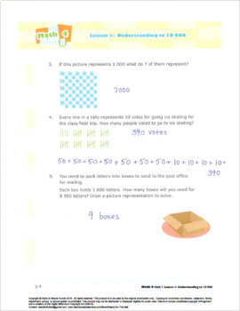 CANADA Math 4: Number Concepts: L1: Understanding to 10 000