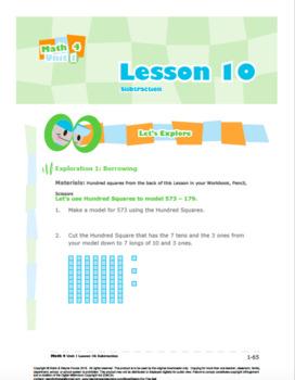 CANADA Math 4: Number Concepts: L10: Subtraction