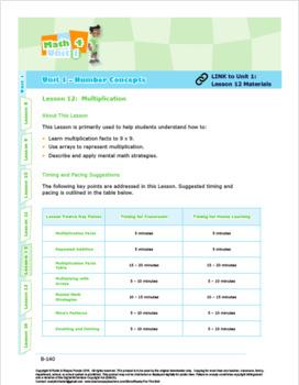 CANADA Math 4: Number Concepts: L12: Multiplication
