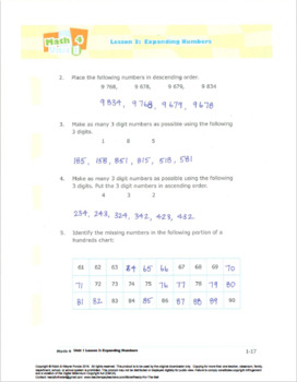 CANADA Math 4: Number Concepts: L3: Expanding Numbers